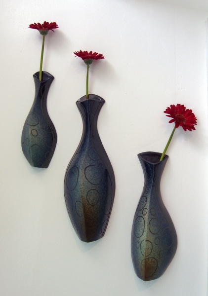 3 Wall Vases