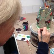 Pottery classes, Underglazing