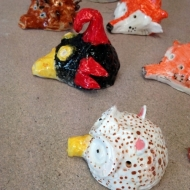 Animal ocarinas, kids pottery classes