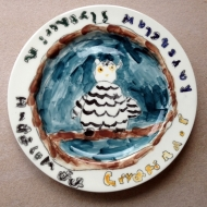 Harry Potter owl plate, kids pottery classes