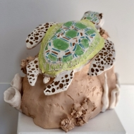 Garden Turtle, kids pottery classes