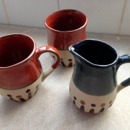 Jug and mugs, pottery classes and courses