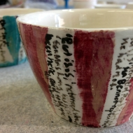 Poem pots, pottery classes and courses