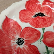 Poppy platter, pottery classes and courses