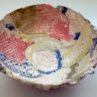Textures bowl, pottery classes and courses